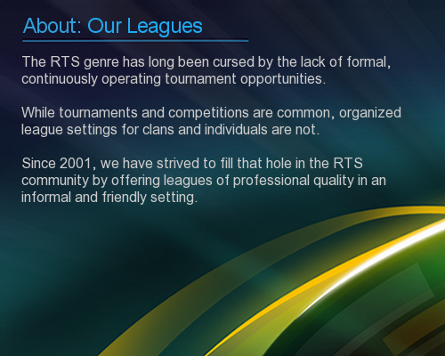 RTS-League: About Our Leagues